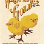 Western Gold Chick Feed Feedbag Pillow