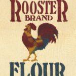 Rooster Brand Flour Feedbag Pillow