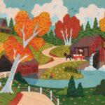 Autumn Mill Multi-Stencil Print