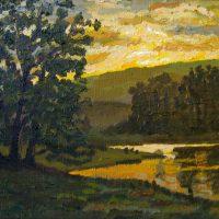 Sunset Pond 10x8